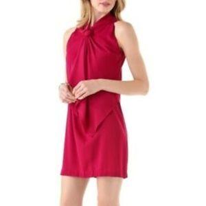 Diane Von Furstenberg Morana Tie Dress 4 Pink Silk